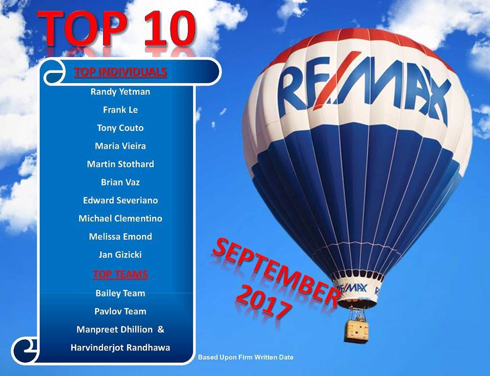 #1 on Remax Top 10 List